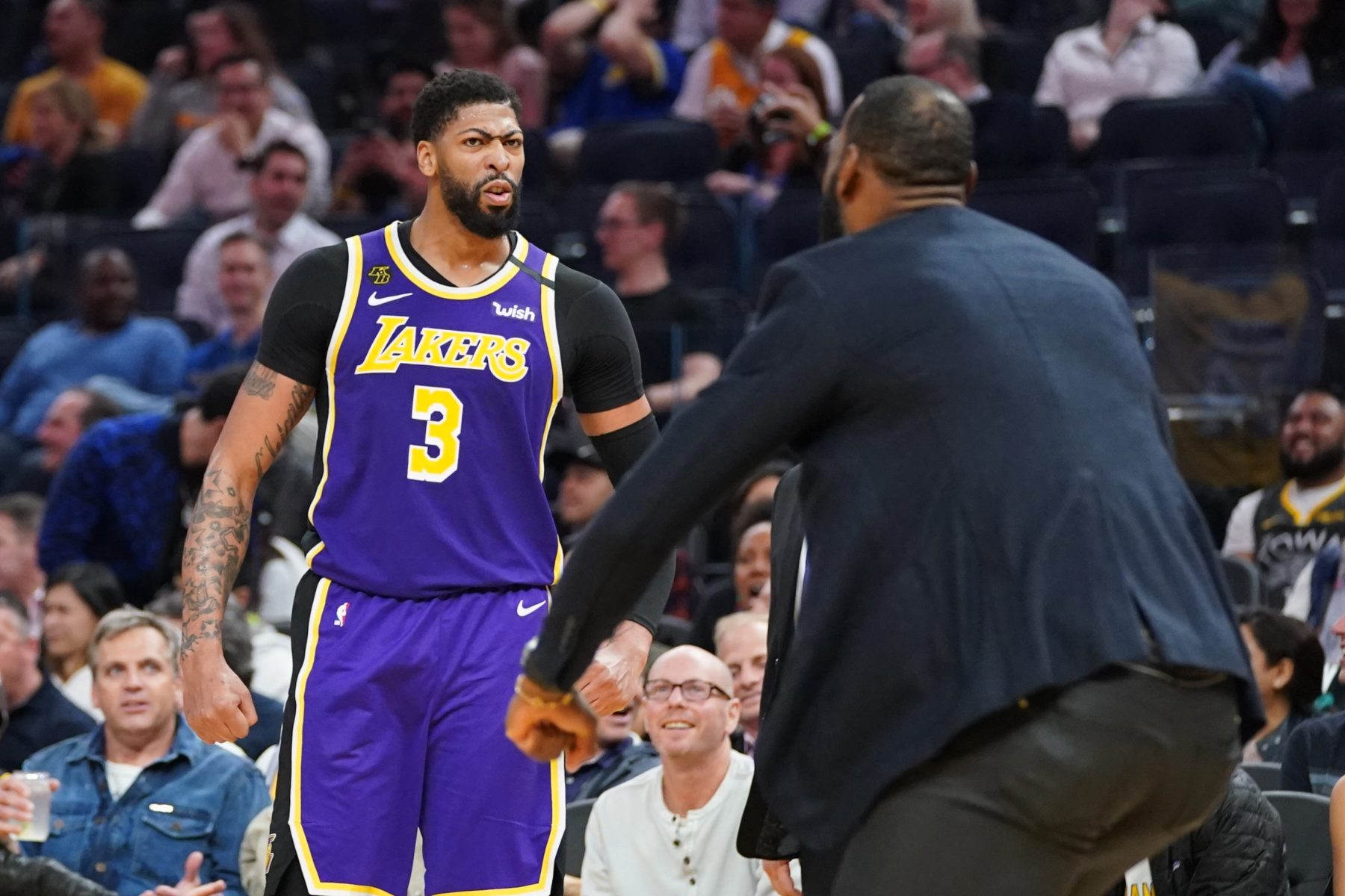 Anthony Davis and LeBron James Lakers