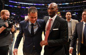 Kobe Bryant and Rob Pelinka
