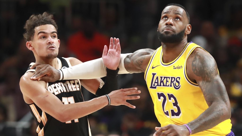 Trae Young and LeBron James
