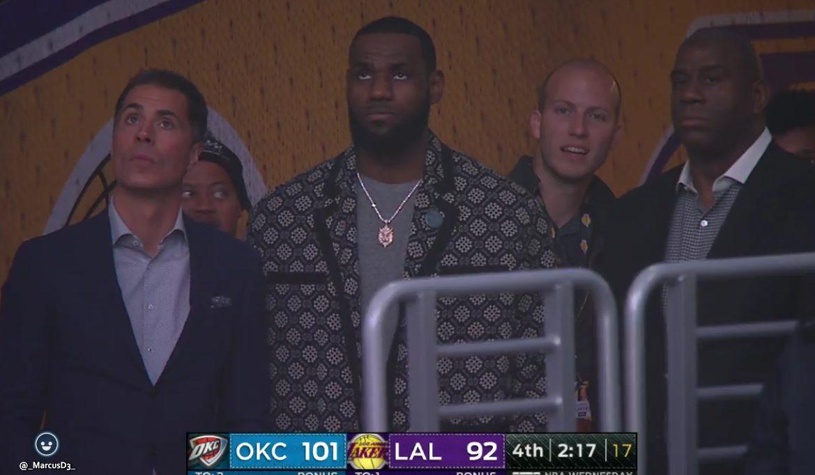 Rob Pelinka, LeBron James and Magic Johnson