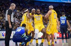 LeBron James and Jared Dudley Lakers