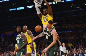 LeBron James, Dwight Howard and Brook Lopez