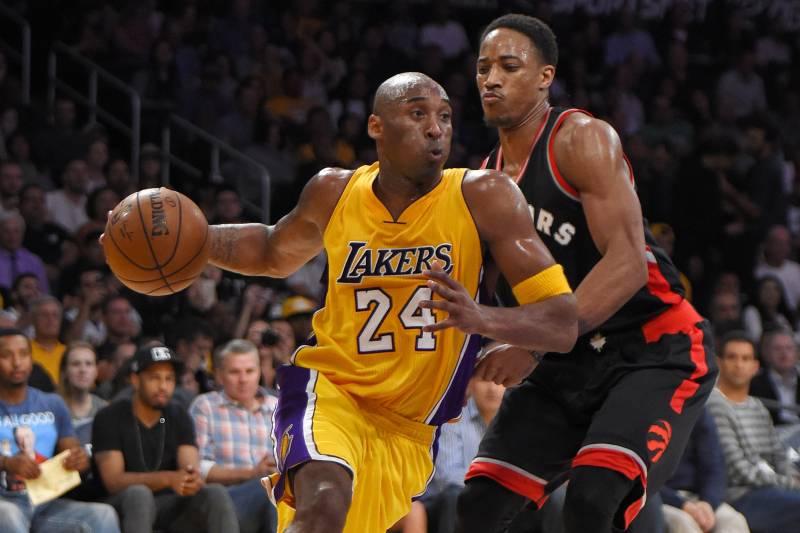 Kobe Bryant and DeMar DeRozan