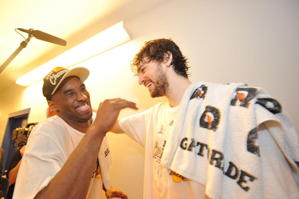 Pau Gasol and Kobe Bryant Lakers