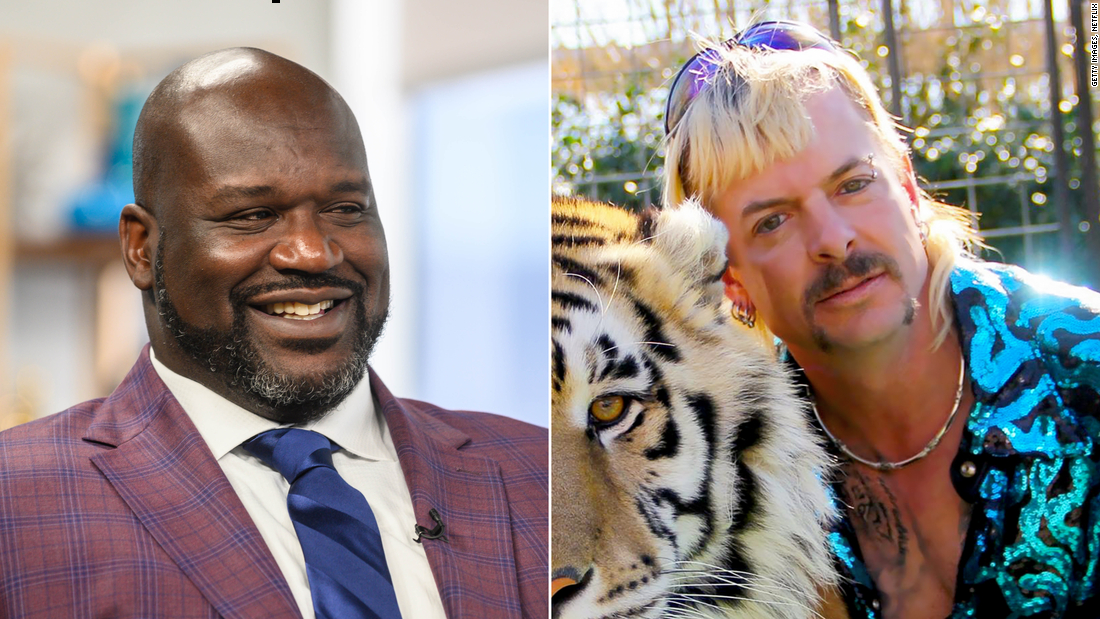 Shaquille O'Neal and Tiger King's Joe Exotic
