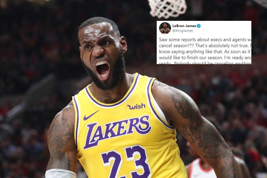 LeBron says he is ready to finish National Basketball Association season