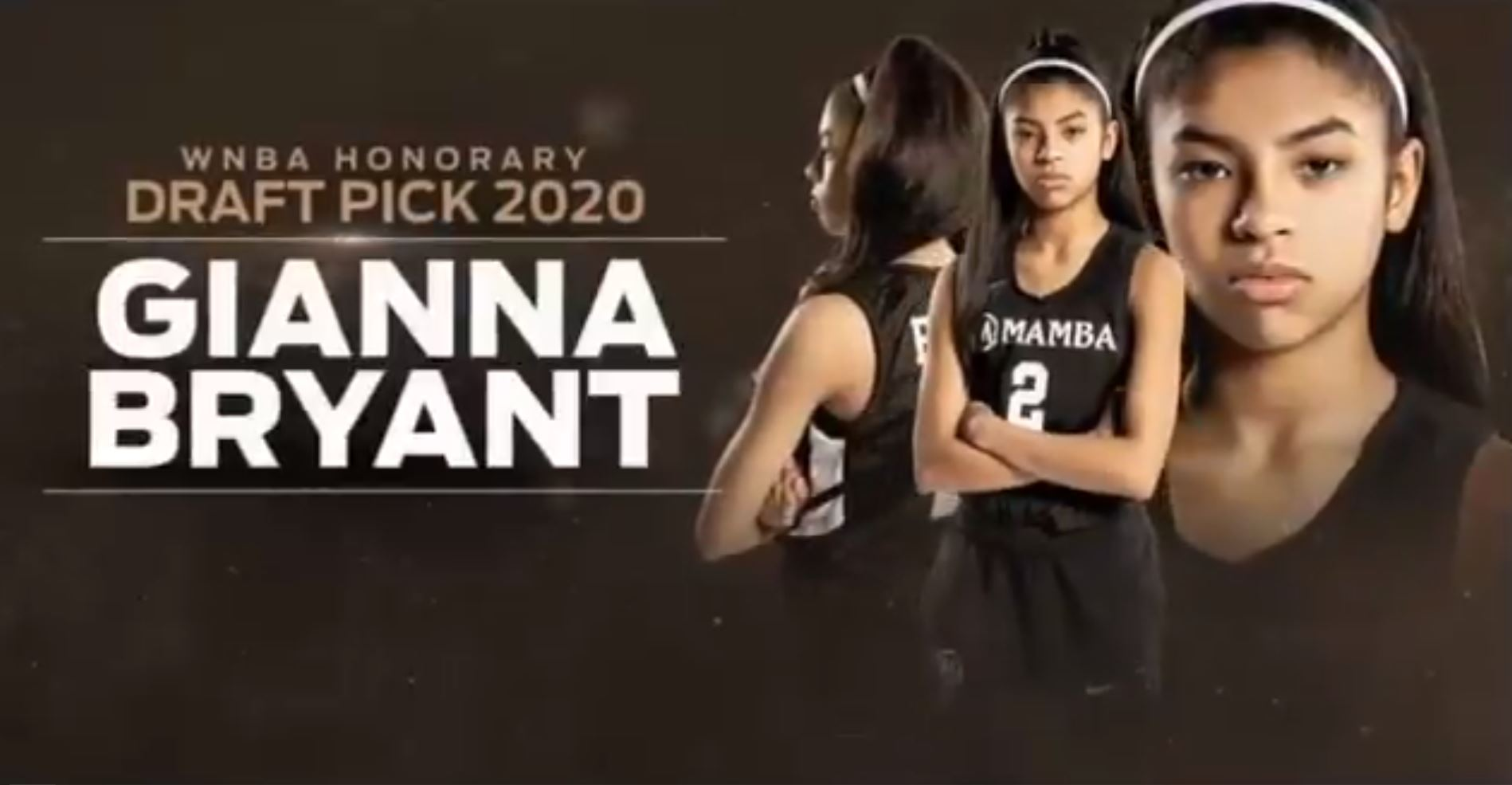 Kobe Bryant's daughter, Gianna, was honorary pick in Friday night's WNBA Draft