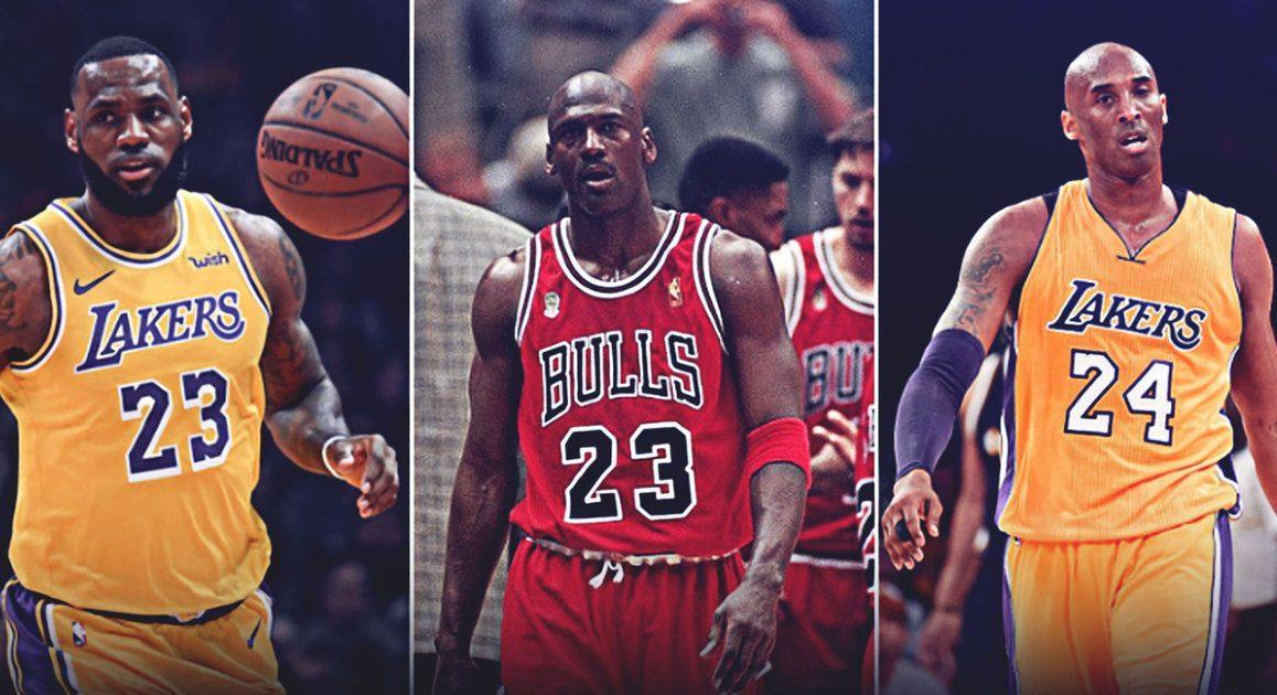 LeBron James, Michael Jordan and Kobe Bryant