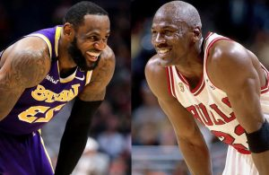 LeBron James and Michael Jordan