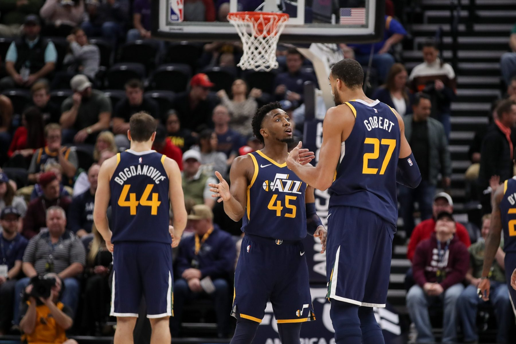 Donovan Mitchell and Rudy Gobert
