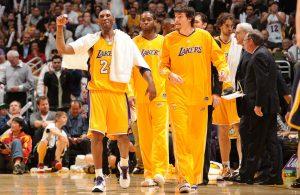 Kobe Bryant and Adam Morrison