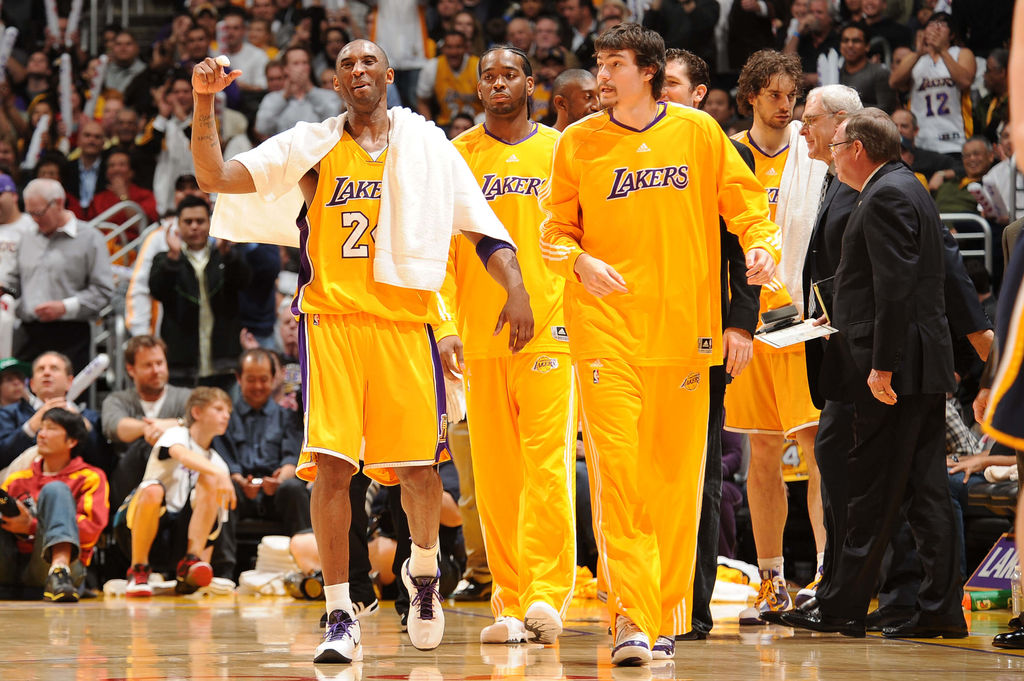 Kobe Bryant and Adam Morrison