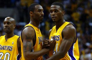 Kobe Bryant and Kareem Rush Lakers
