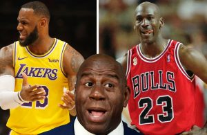 LeBron James, Michael Jordan and Magic Johnson
