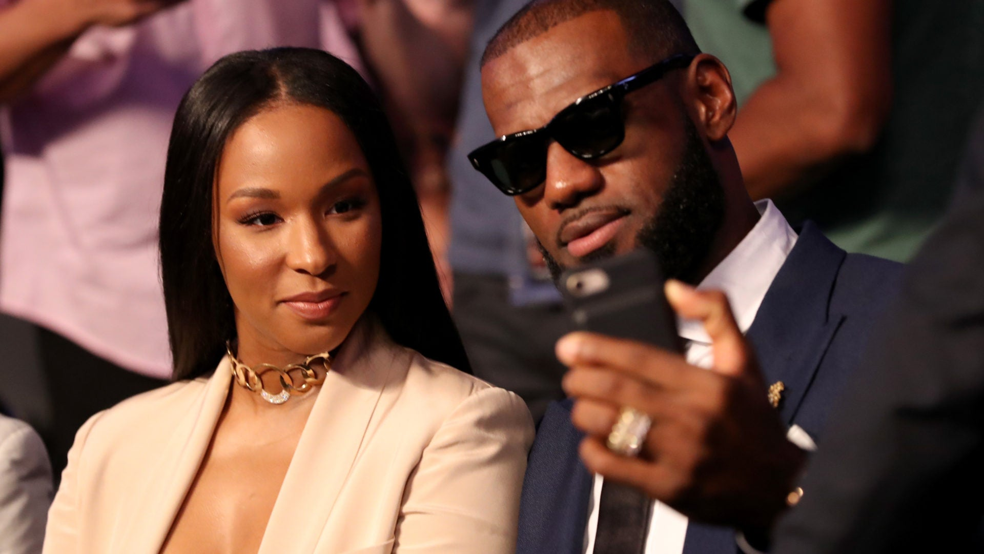 Savannah James and LeBron James