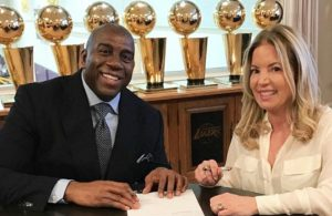 Magic Johnson and Jeanie Buss