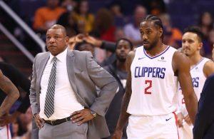 Doc Rivers and Kawhi Leonard