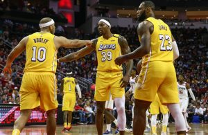 Jared Dudley, Dwight Howard and LeBron James