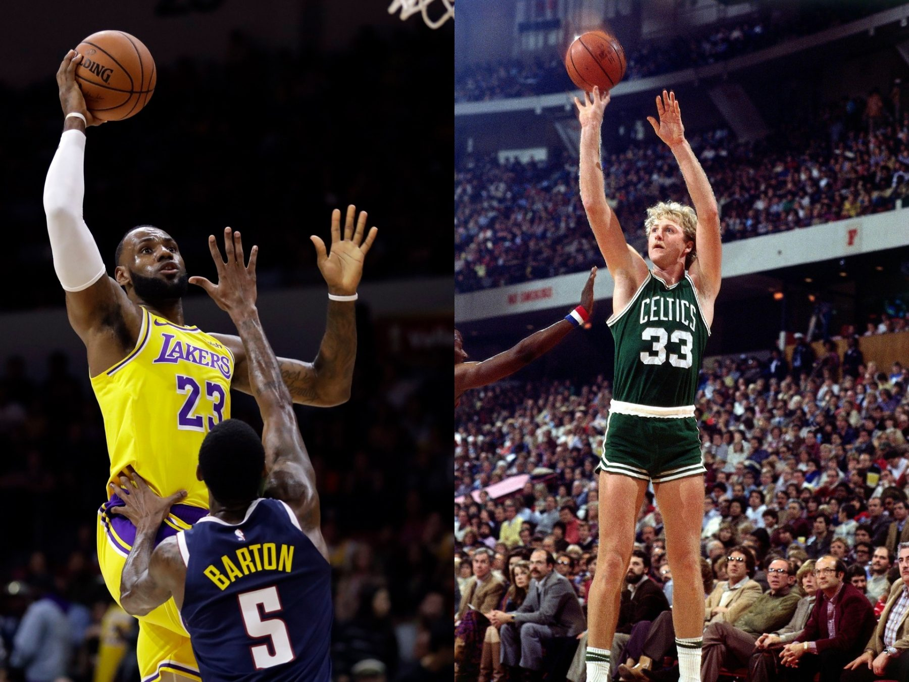 Larry Bird and LeBron James