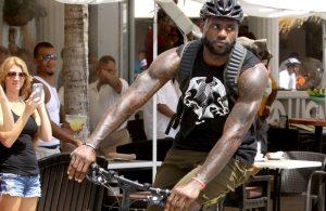 LeBron James Biking