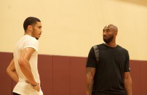 Jayson Tatum and Kobe Bryant