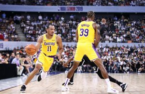 Avery Bradley and Dwight Howard Lakers