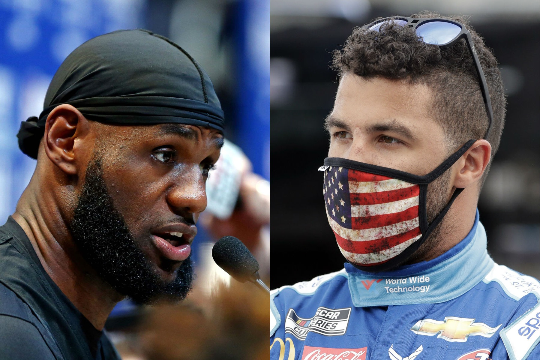 LeBron James and Bubba Wallace