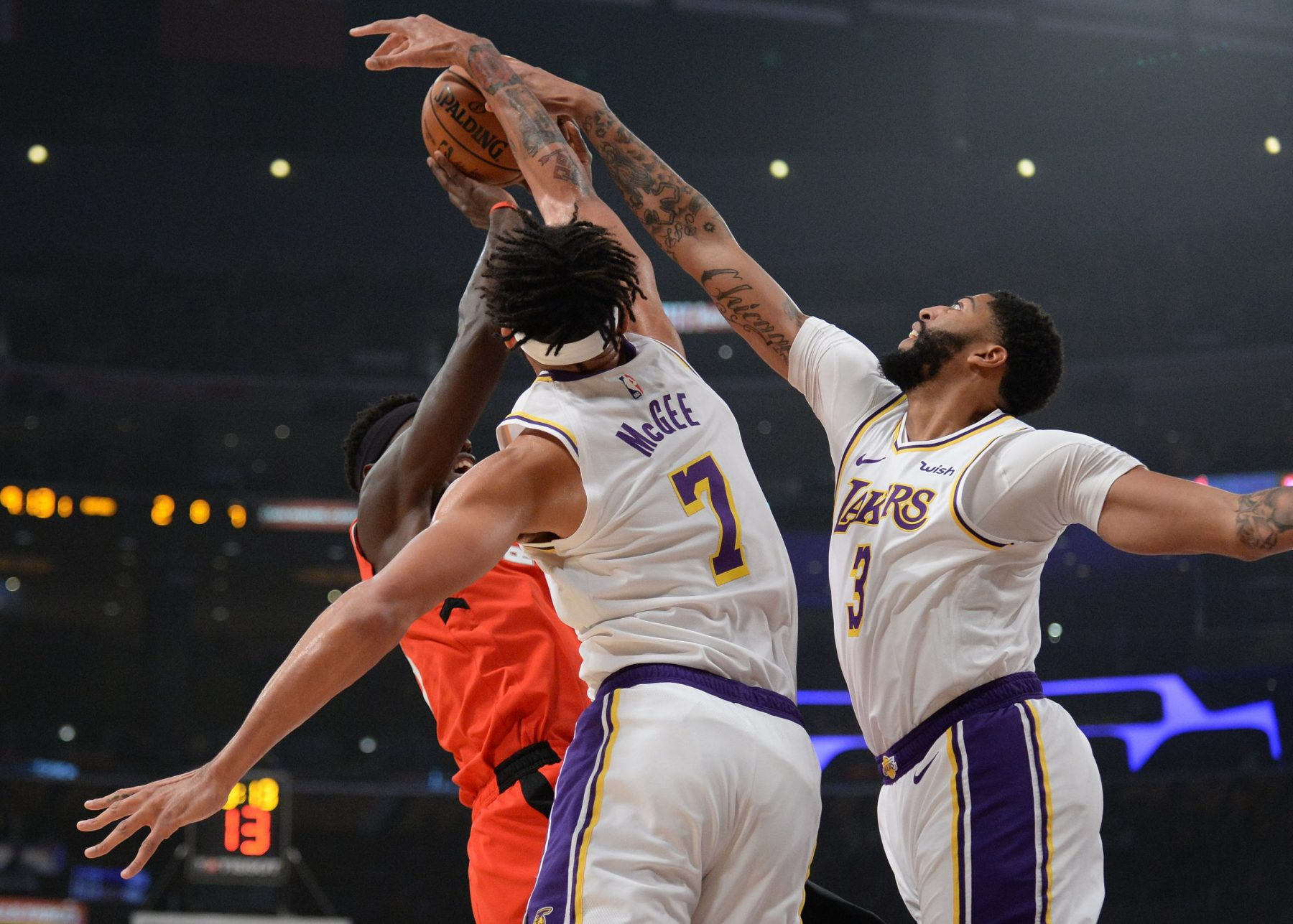 JaVale McGee and Anthony Davis