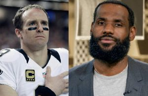 Drew Brees and LeBron James