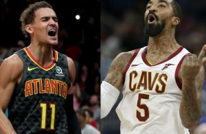 Trae Young and J.R. Smith