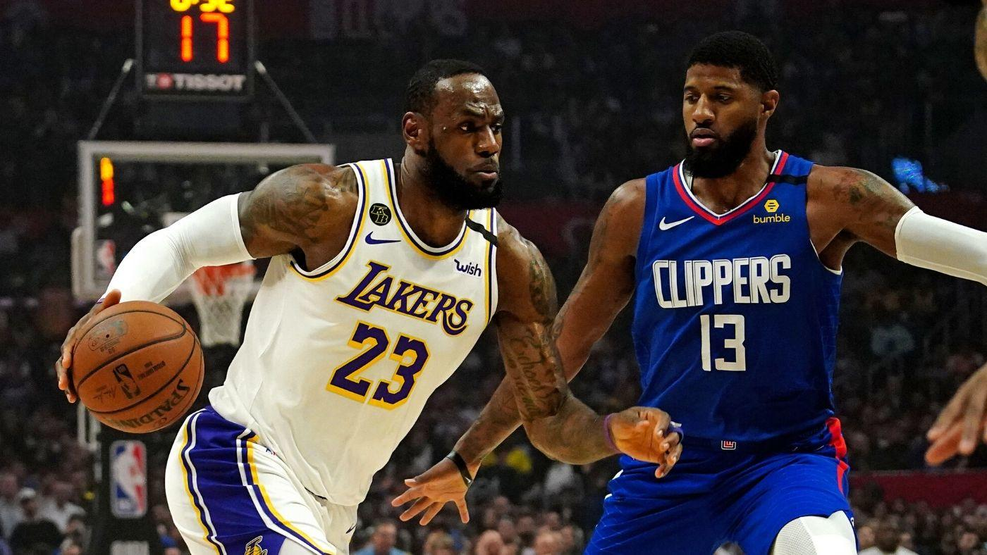 LeBron James Lakers and Paul George Clippers