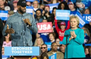 LeBron James and Hillary Clinton