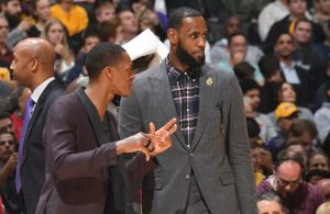 Rajon Rondo and LeBron James
