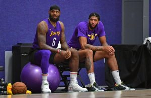 Anthony Davis and LeBron James NBA Bubble