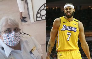 JaVale McGee and Lakers Bus Driver