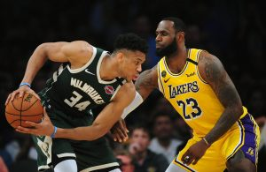 LeBron James and Giannis Antetokounmpo