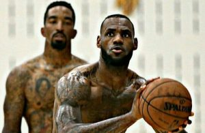 J.R. Smith and LeBron James