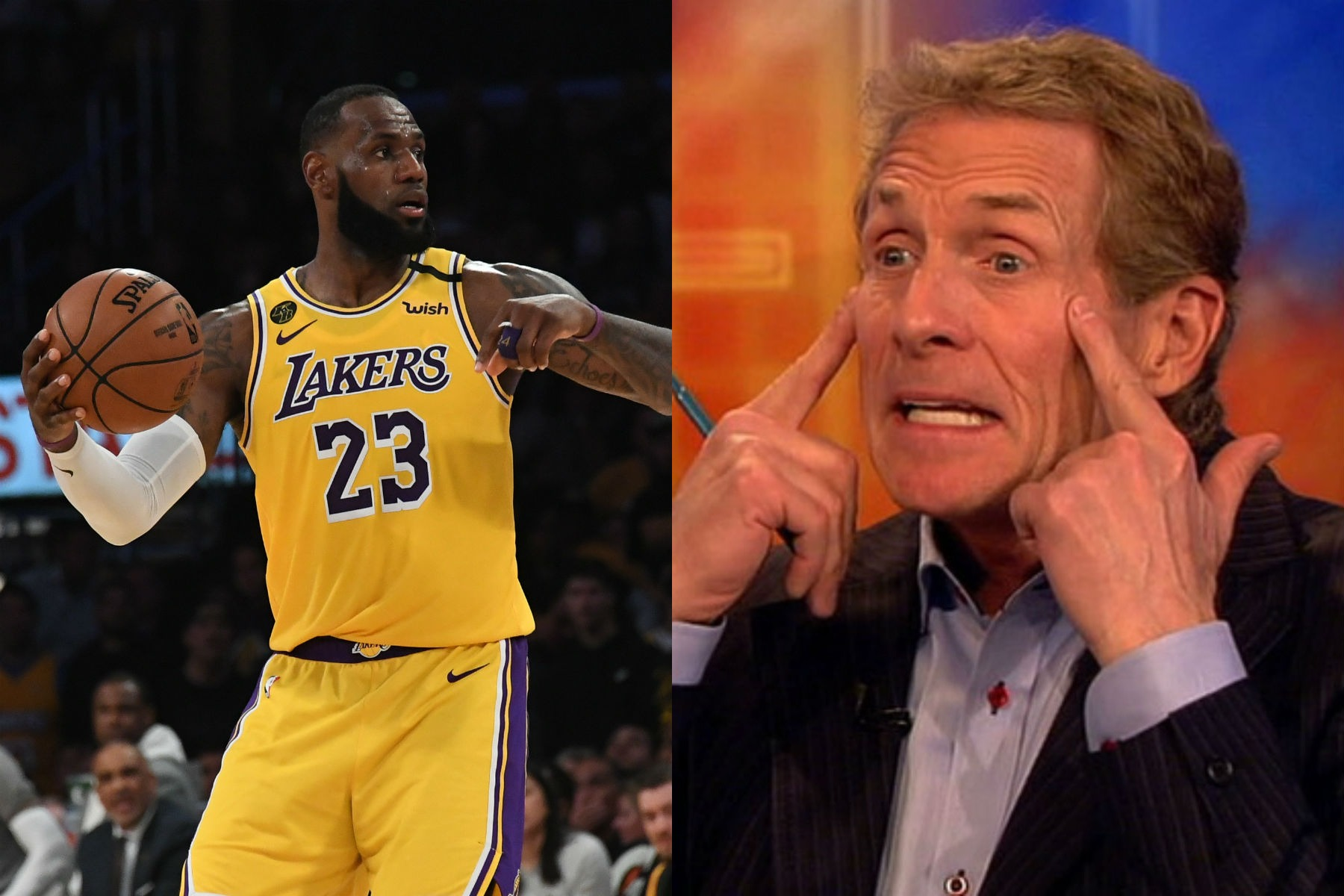 LeBron James and Skip Bayless