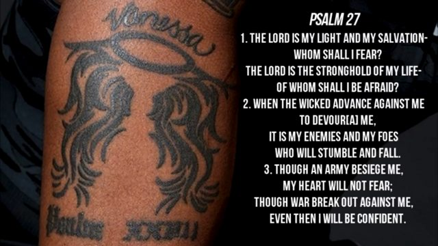 Kobe Bryant Psalm Tattoo