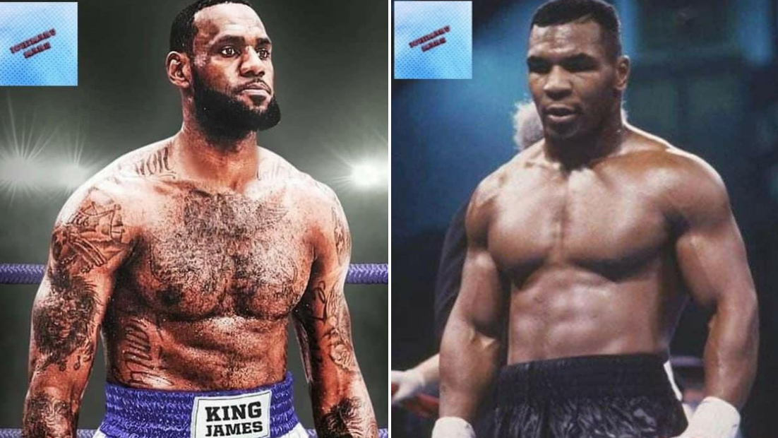 LeBron James and Mike Tyson Boxing
