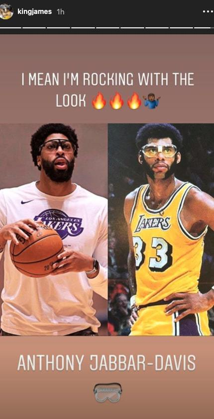 Anthony Davis and Kareem Abdul-Jabbar
