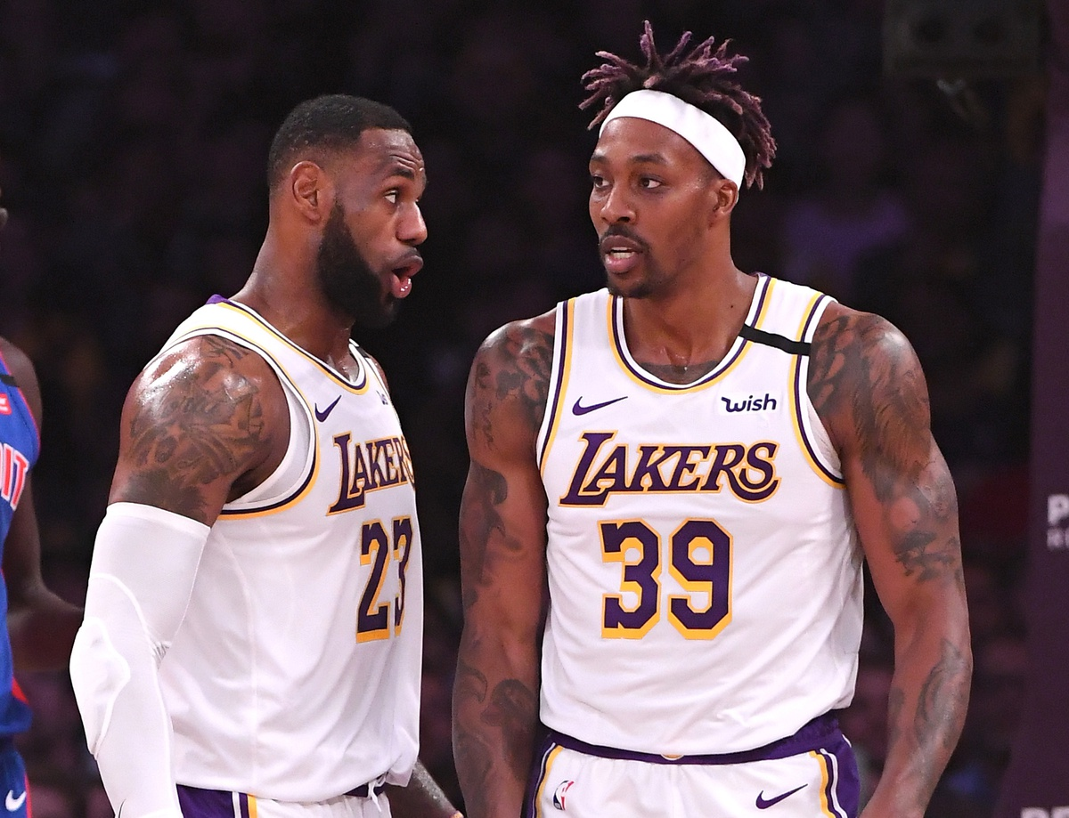 Dwight Howard and LeBron James
