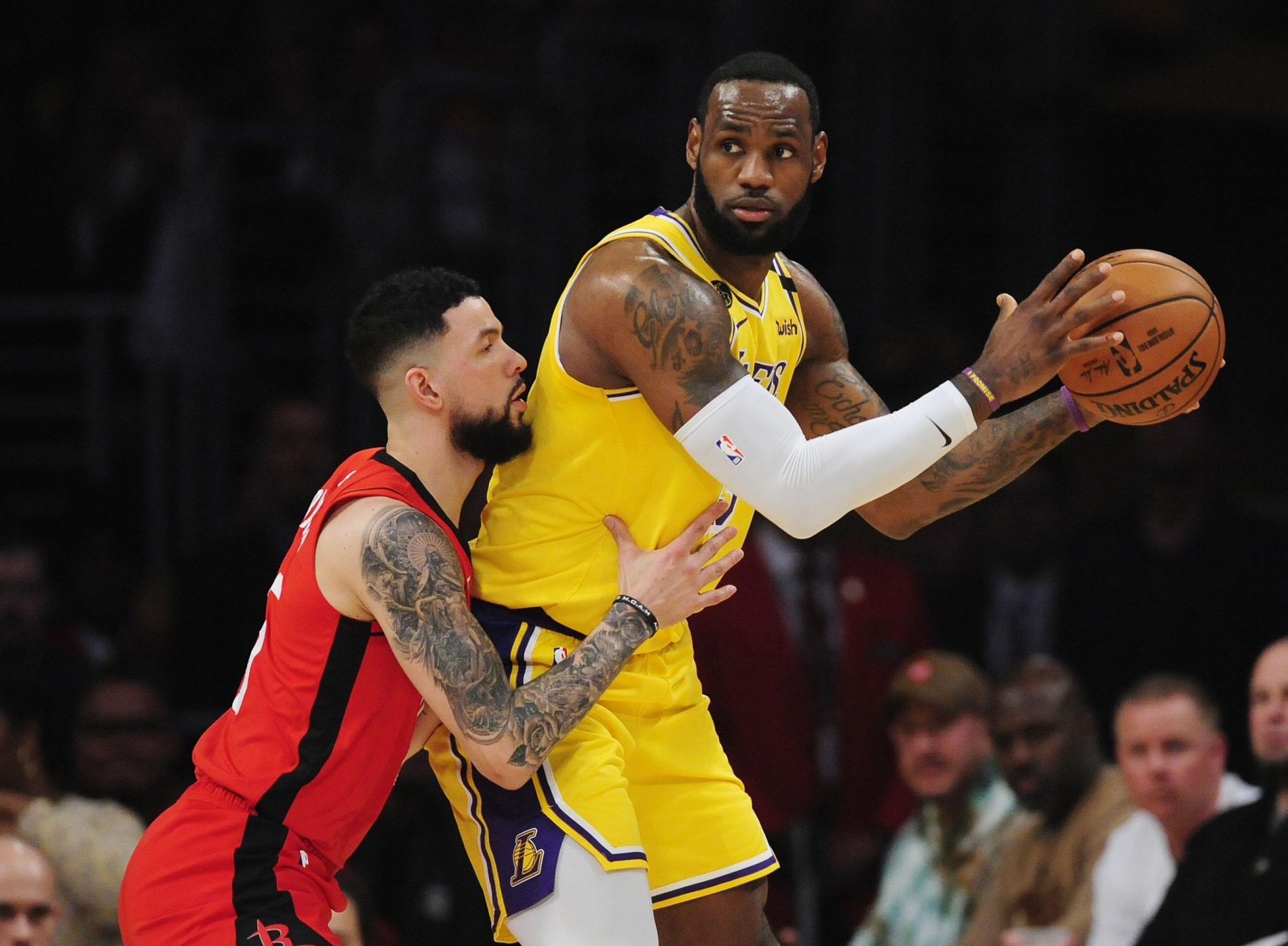 Austin Rivers and LeBron James