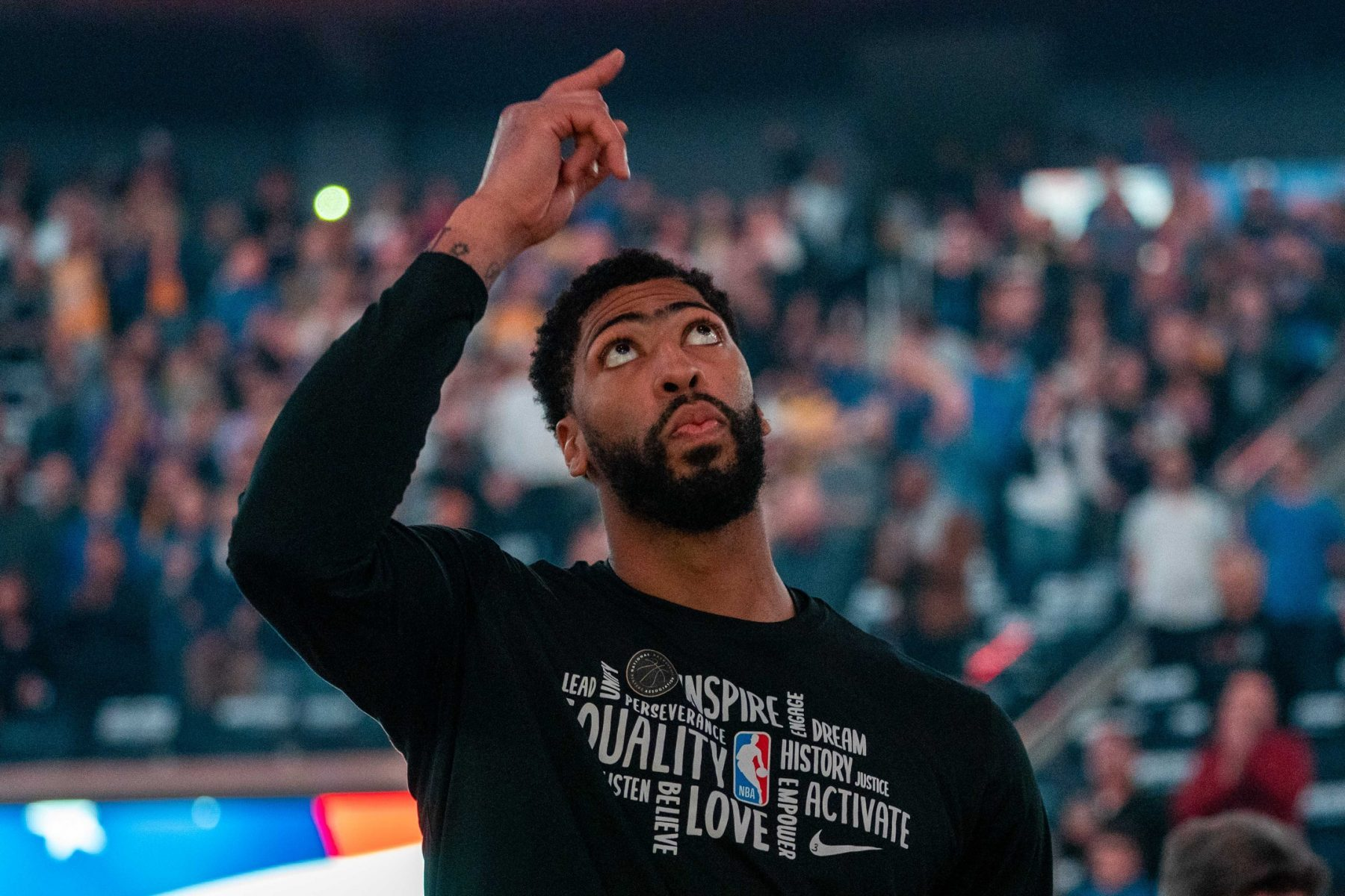 Anthony Davis likes Lakers' title chances when games return