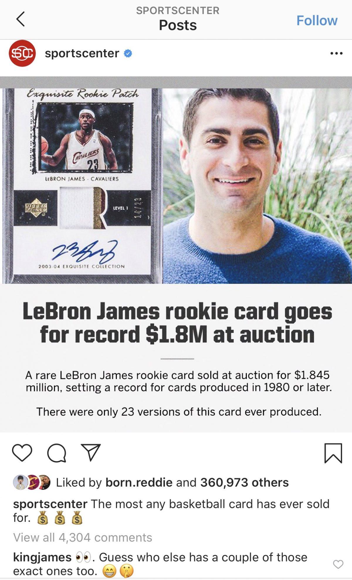 LeBron James Rookie Card