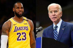 LeBron James and Joe Biden