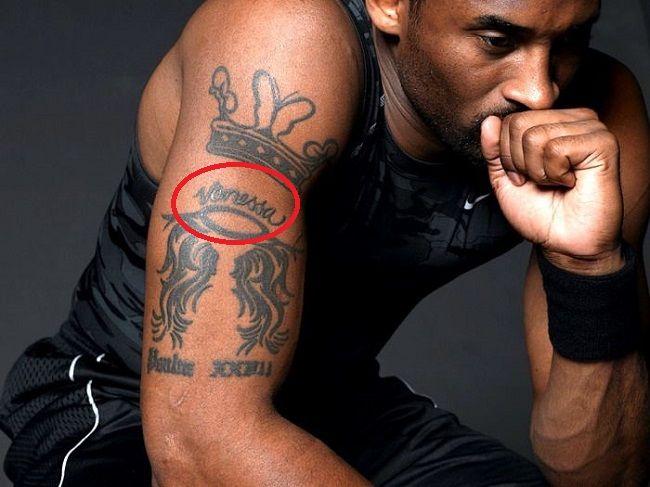 Kobe Bryant Vanessa Tattoo