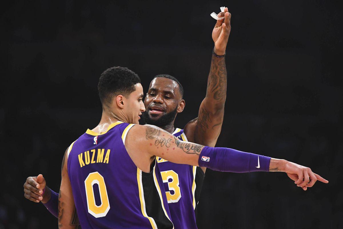 Kyle Kuzma and LeBron James Lakers