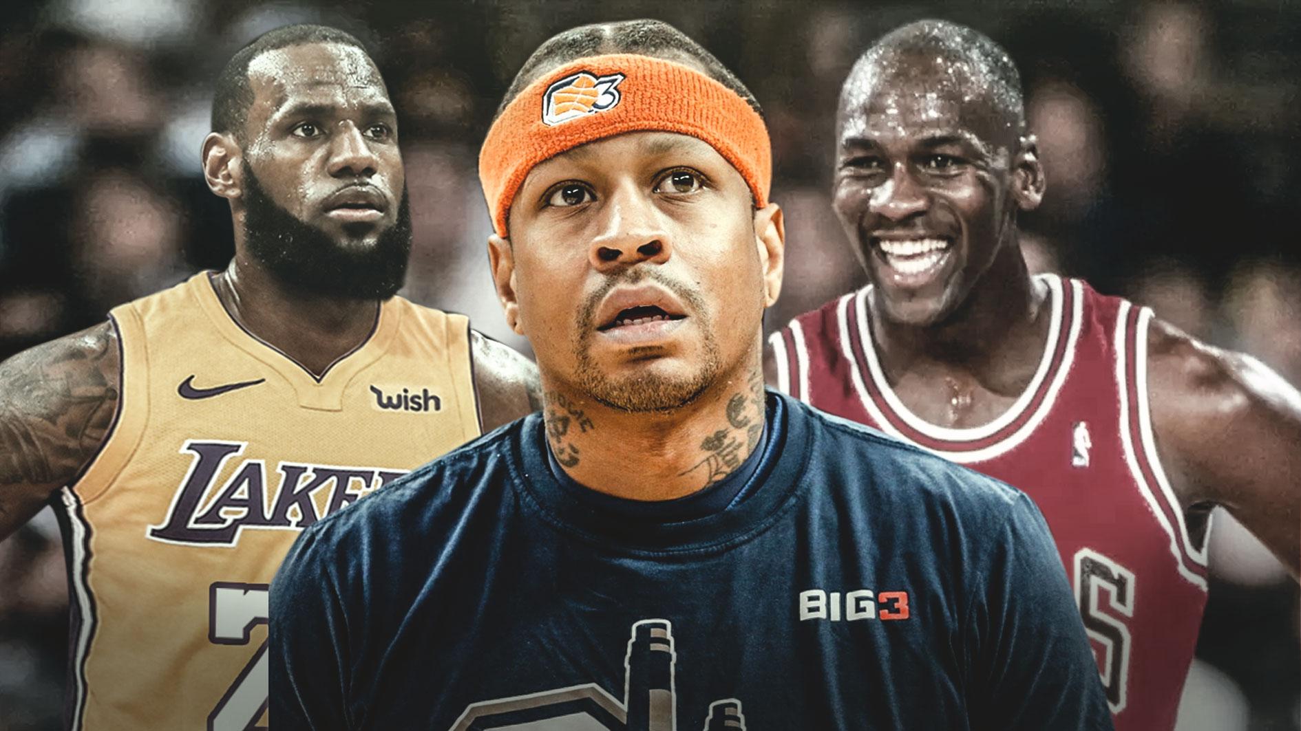 Michael Jordan, LeBron James and Michael Jordan