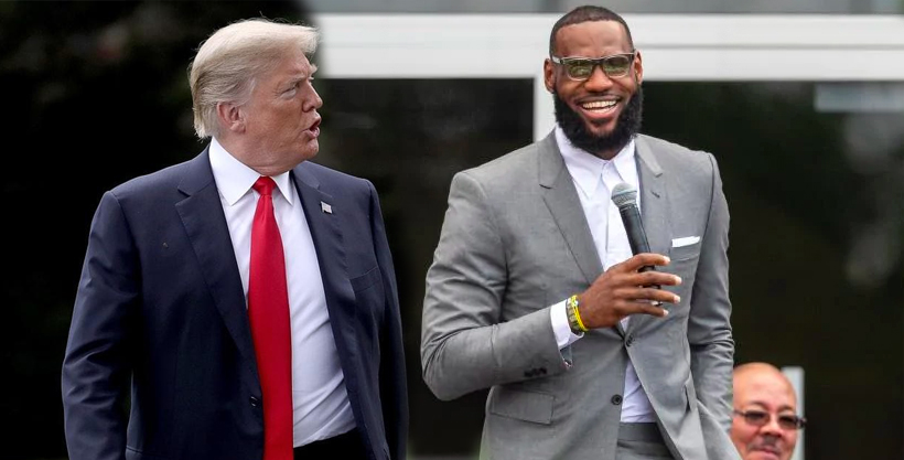 Donald Trump and LeBron James